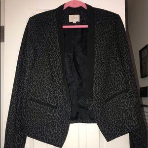 Ann Taylor Loft leopard print blazer, size 12